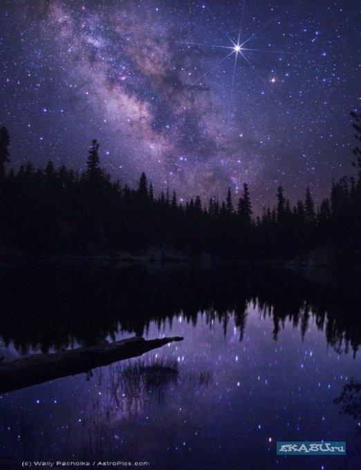 Красивые картинки с ночным небом 005