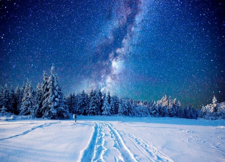 Красивые картинки с ночным небом 018