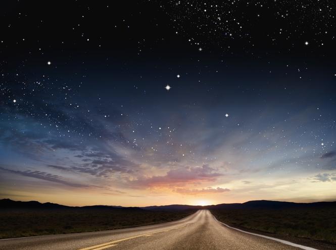 Красивые картинки с ночным небом 019