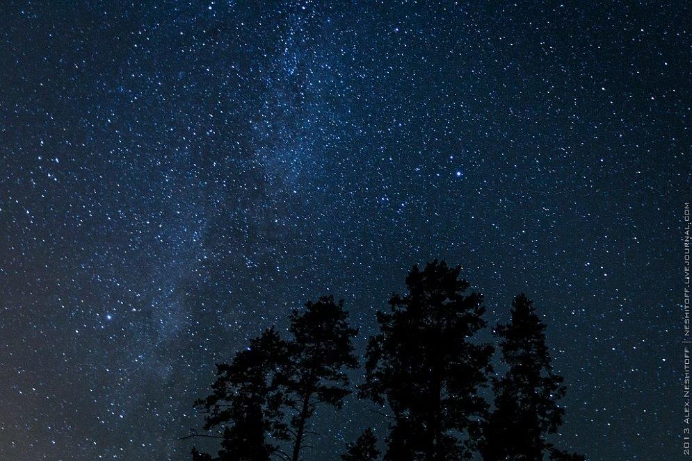 Красивые картинки с ночным небом 024