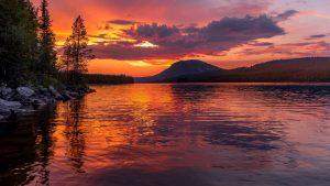 Красивые обои закат в горах   подборка (19)