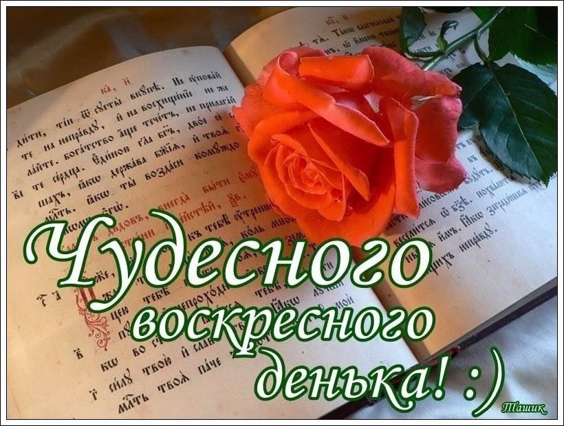 Картинки с пожеланием доброго воскресного утра, открытка