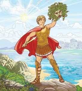 Красивые рисунки Персей и Горгона 028