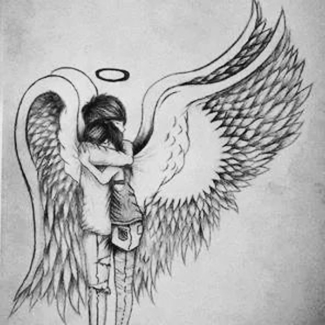 Красивые рисунки для срисовки ангелы 004
