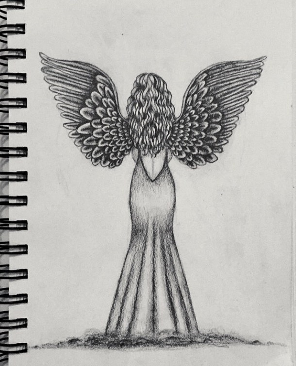 Красивые рисунки для срисовки ангелы 005
