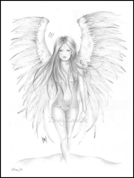 Красивые рисунки для срисовки ангелы 006