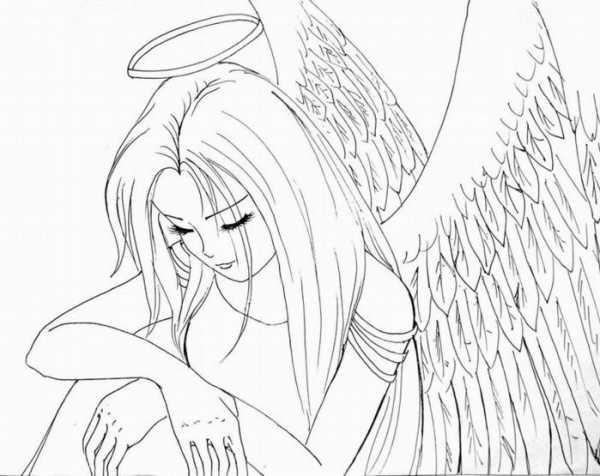 Красивые рисунки для срисовки ангелы 008