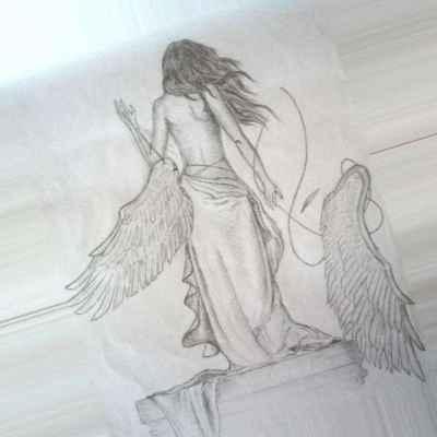 Красивые рисунки для срисовки ангелы 009