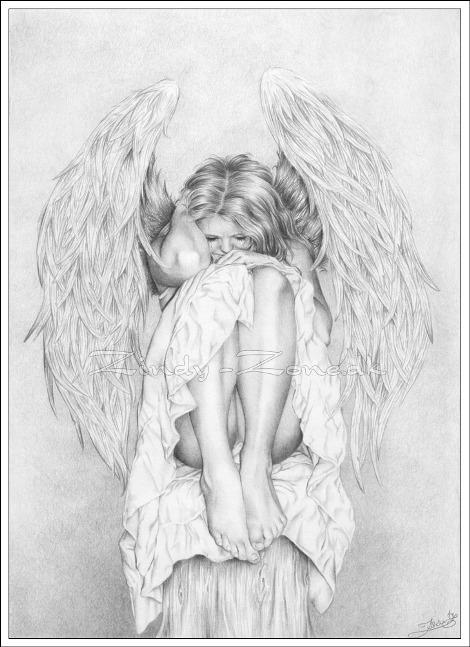 Красивые рисунки для срисовки ангелы 010