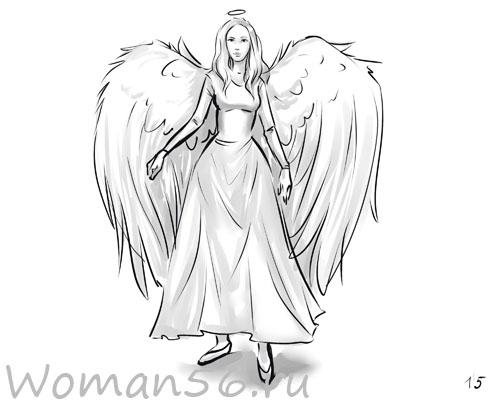 Красивые рисунки для срисовки ангелы 011