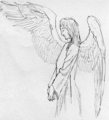 Красивые рисунки для срисовки ангелы 012