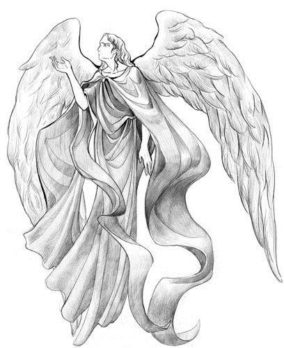 Красивые рисунки для срисовки ангелы 013