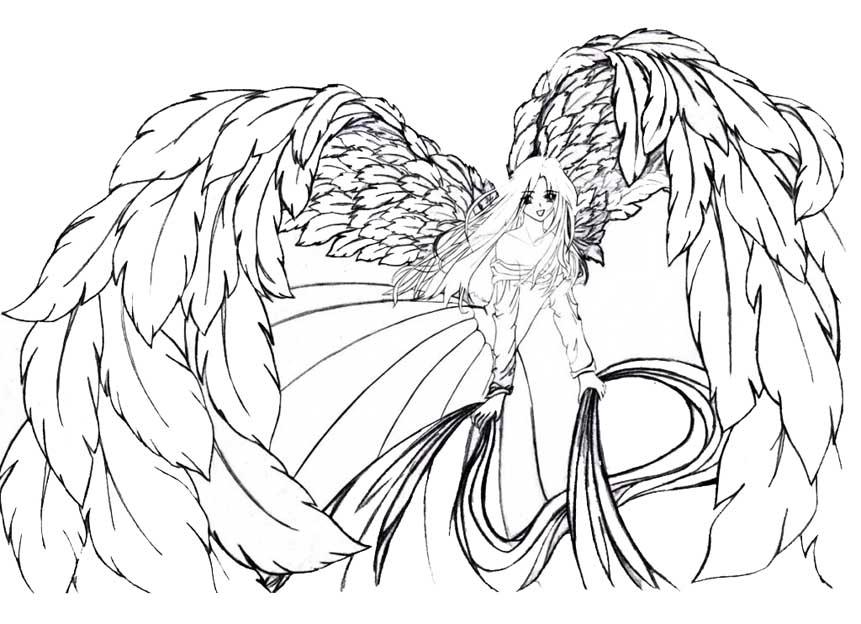 Красивые рисунки для срисовки ангелы 018