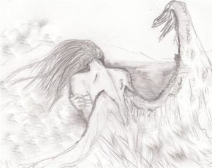 Красивые рисунки для срисовки ангелы 019