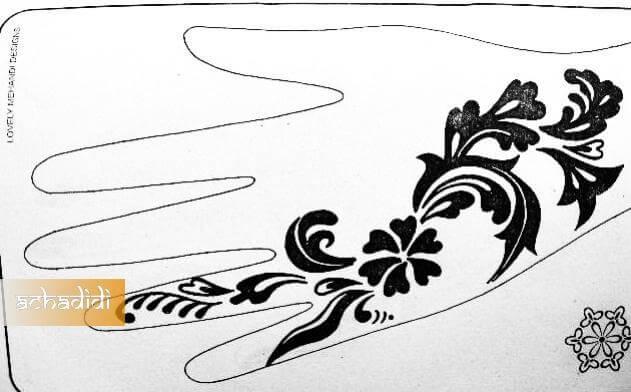 Красивые узоры легкие рисунки 009