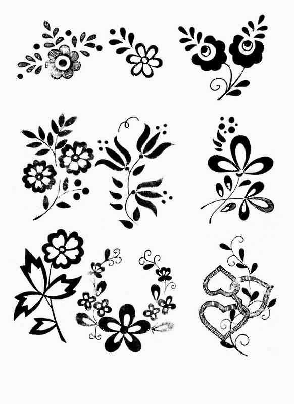 Красивые узоры легкие рисунки 020