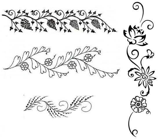 Красивые узоры легкие рисунки 022