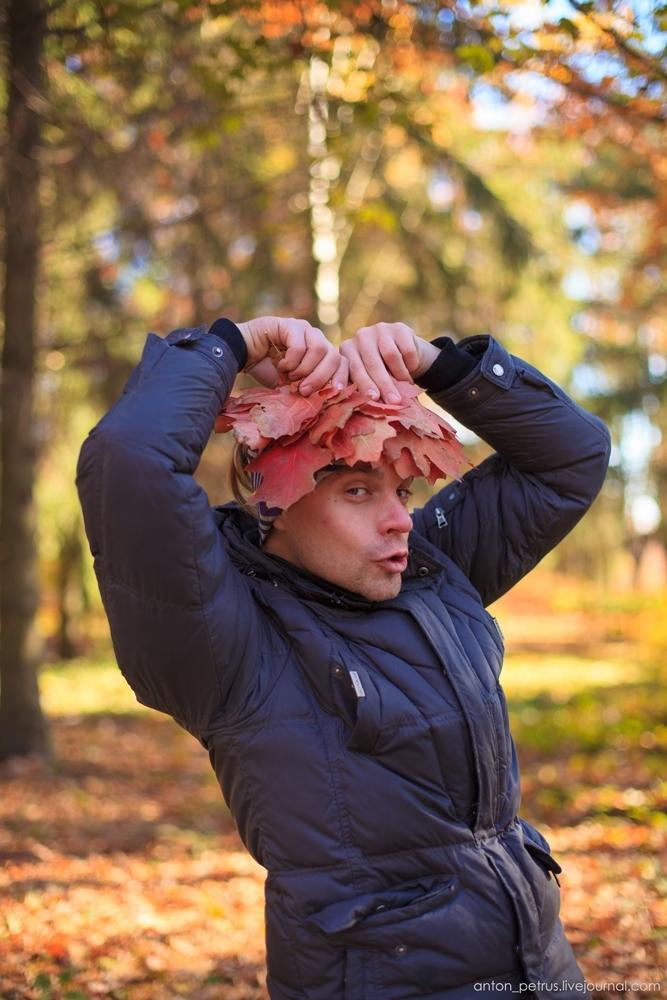 Красивые фотографии девушек осенью   подборка фото (16)
