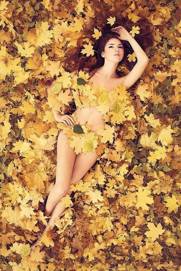 Красивые фотографии девушек осенью   подборка фото (17)