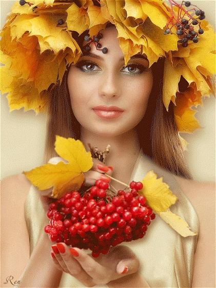 Красивые фотографии девушек осенью   подборка фото (19)