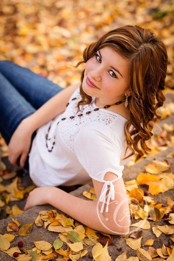 Красивые фотографии девушек осенью   подборка фото (21)