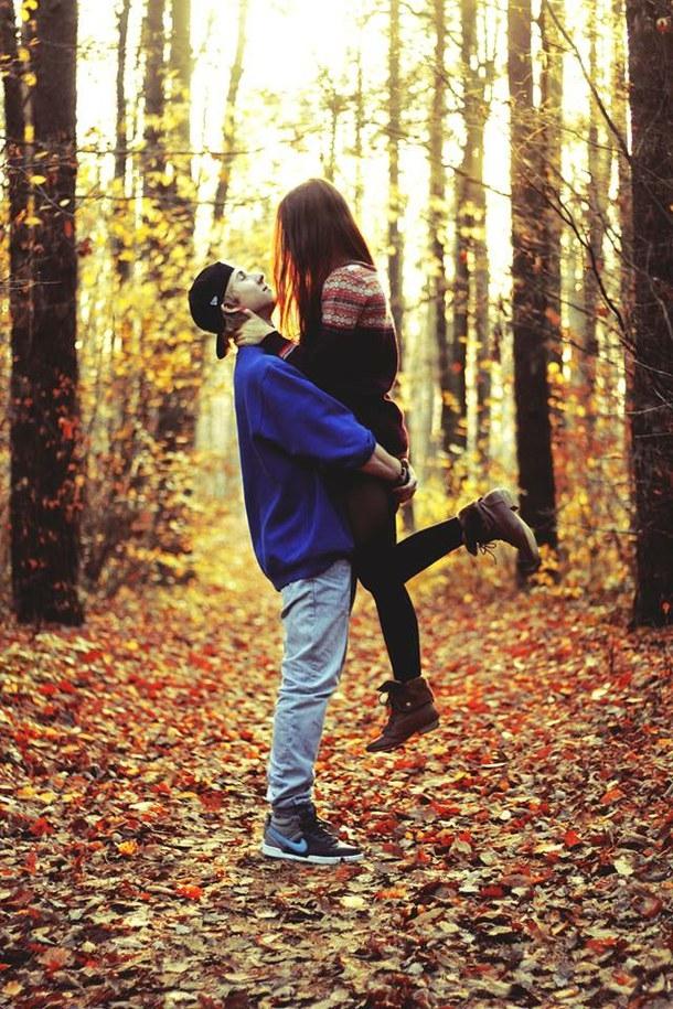 Красивые фотографии девушек осенью   подборка фото (22)