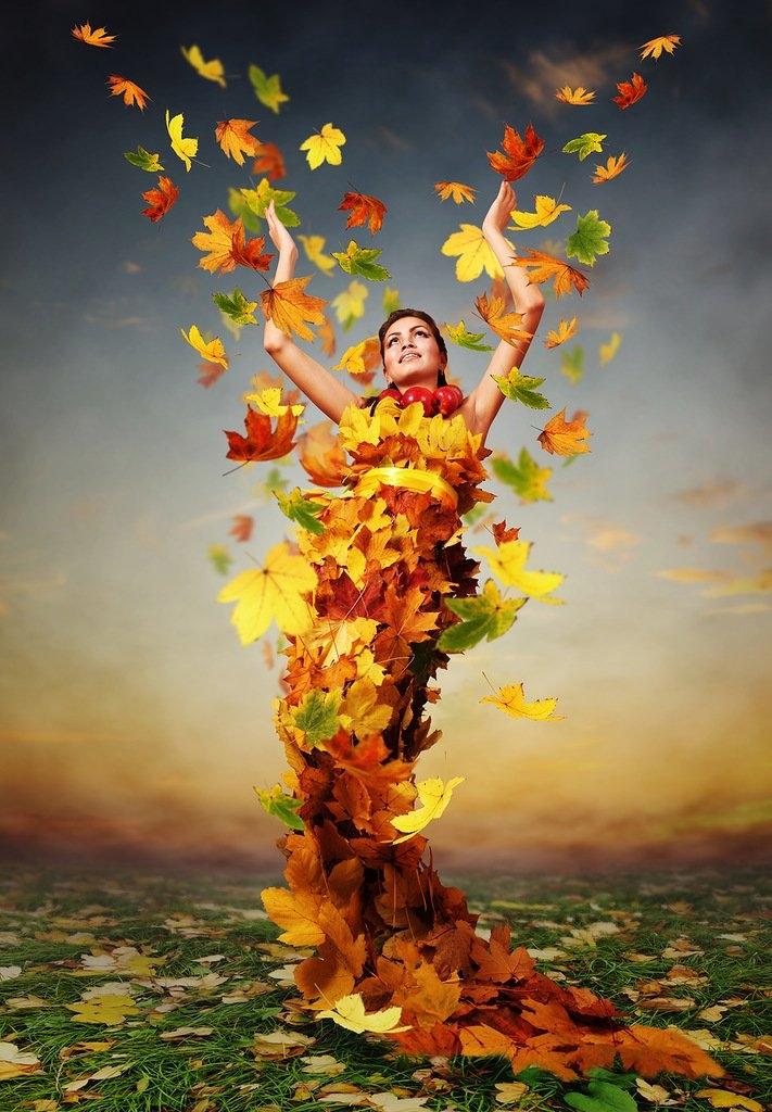 Красивые фотографии девушек осенью   подборка фото (24)