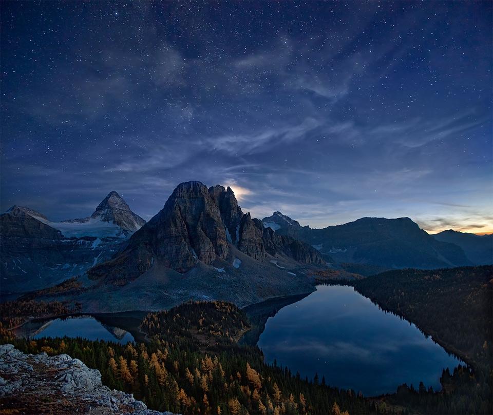 Красивые фото горы ночью   подборка002