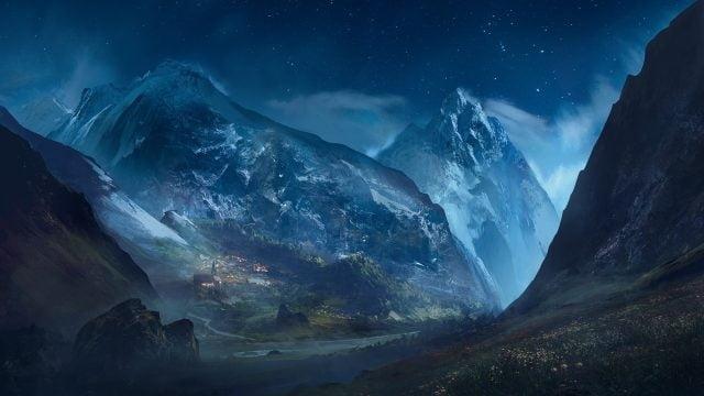 Красивые фото горы ночью   подборка014