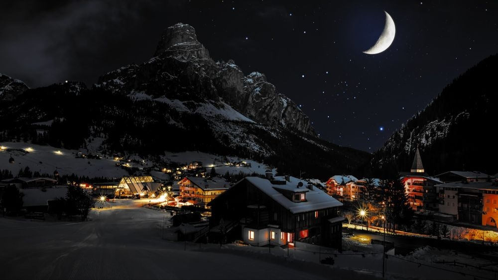 Красивые фото горы ночью   подборка021