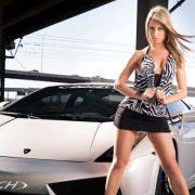 Красивые фото девушек и автомобилей   подборка 015