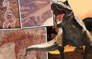 Красивые фото динозавров с людьми 023