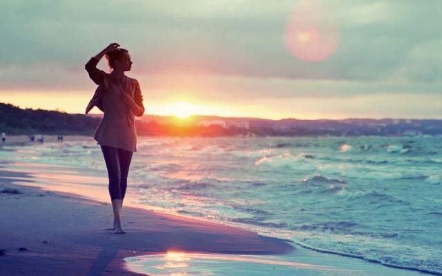 Красивые фото женщин на море   подборка 024