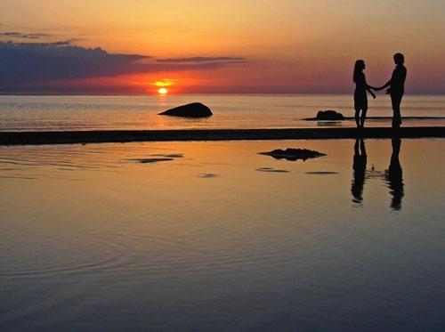 Красивые фото любовь на закате 001