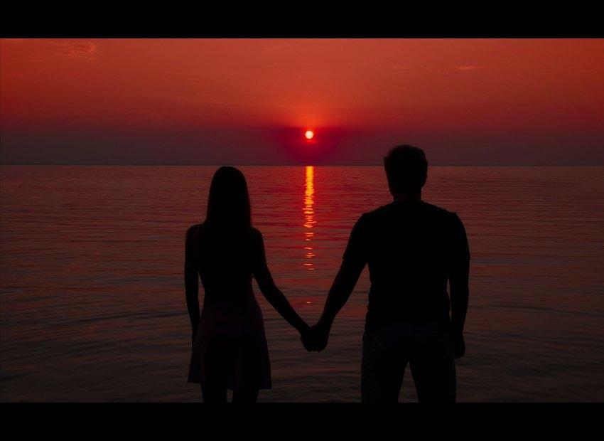 Красивые фото любовь на закате 005
