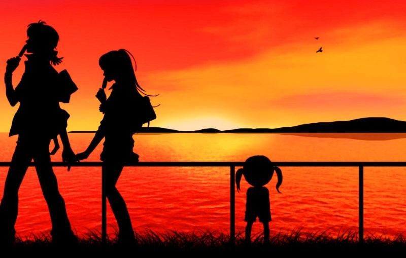 Красивые фото любовь на закате 006