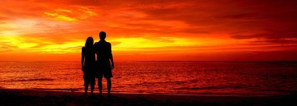 Красивые фото любовь на закате 011
