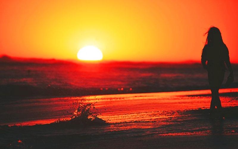 Красивые фото любовь на закате 017