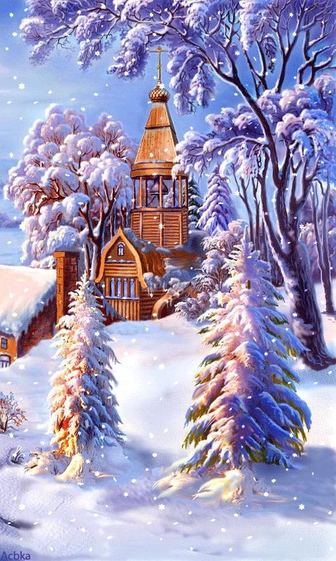 Красивые фото на телефон зима029