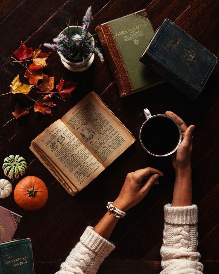 Красивые фото осень, кофе, плед   сборка 001