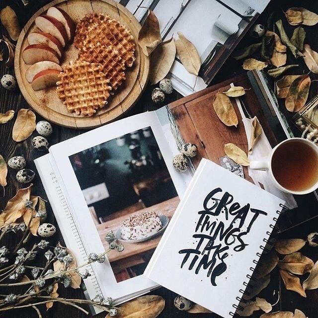 Красивые фото осень, кофе, плед   сборка 002