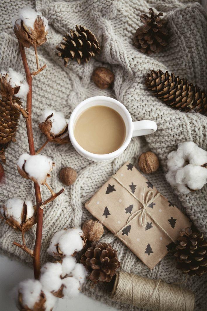 Красивые фото осень, кофе, плед   сборка 003