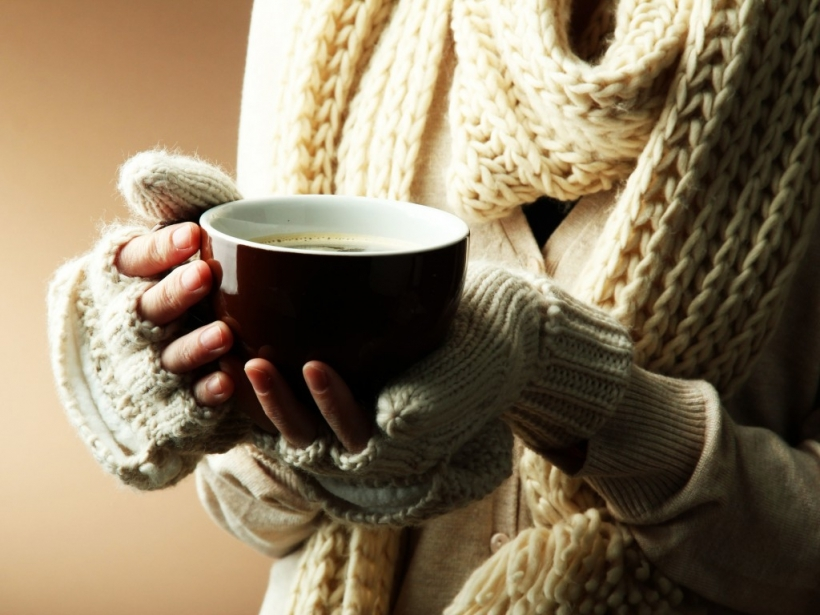 Красивые фото осень, кофе, плед   сборка 004