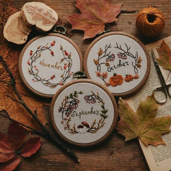 Красивые фото осень, кофе, плед   сборка 008