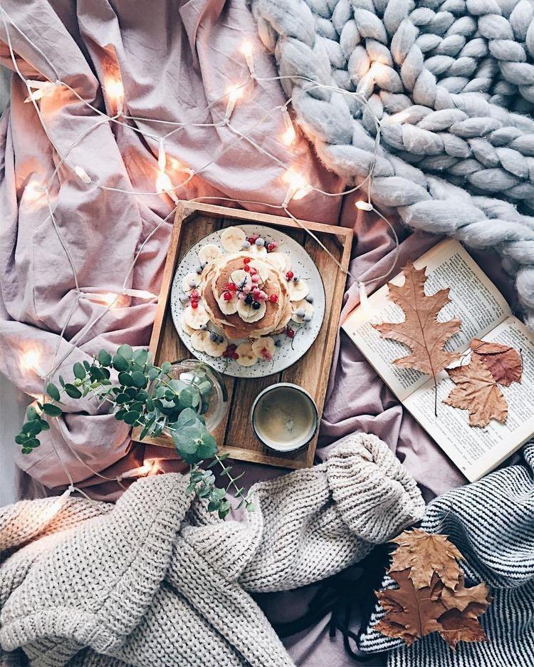 Красивые фото осень, кофе, плед   сборка 010