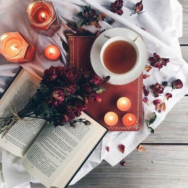 Красивые фото осень, кофе, плед   сборка 012