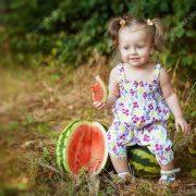 Красивые фото ребенок в арбузе 024