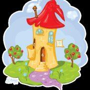 Красивый рисунок домиков для детей020