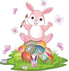 Красивый рисунок кролик с морковкой020