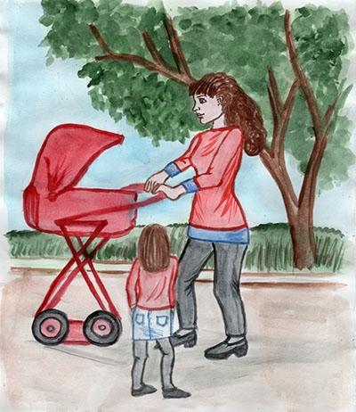 Красивый рисунок маме от дочки   подборка 001